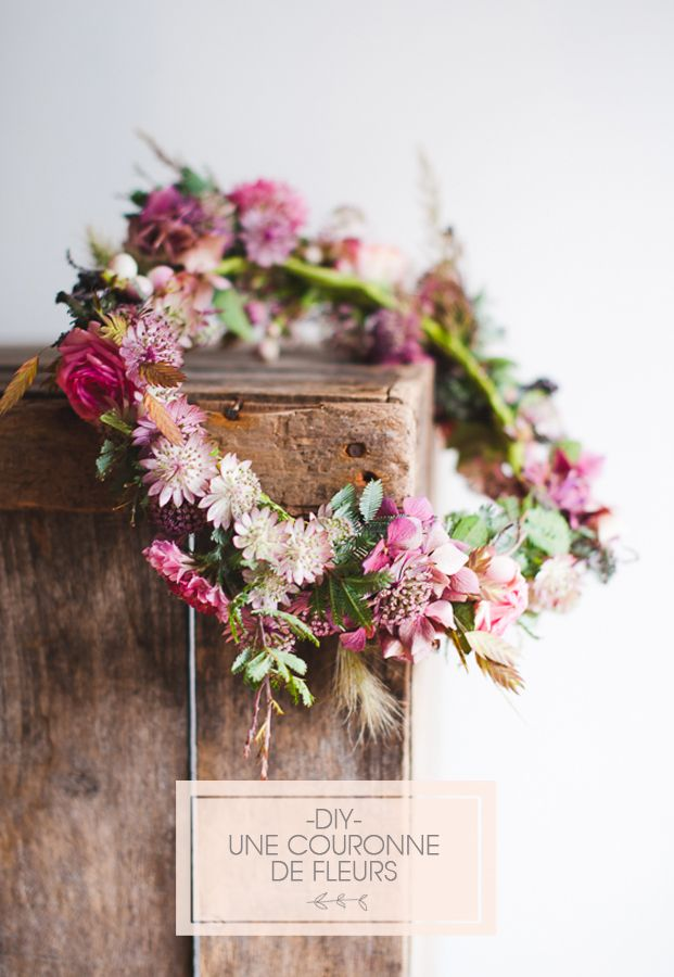 DIY couronne de fleurs d'automne - La Fiancée du Panda blog Mariage et Lifestyle