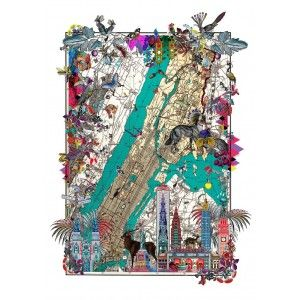 New York City Art Print - New York Map Artwork Nyja Jorvik available to buy online at everythingbegins.com
