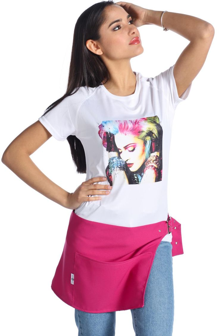 T-Shirt antimacchia, T-Shirt parrucchiera, T-Shirt centro estetico,magliette da lavoro,