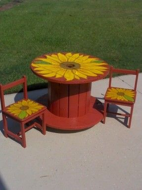 spool table and chairs - Google Search