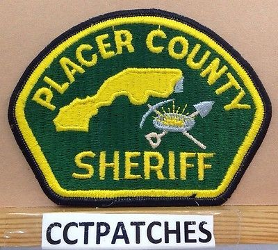 Placer County, California Sheriff (police) Shoulder Patch Ca