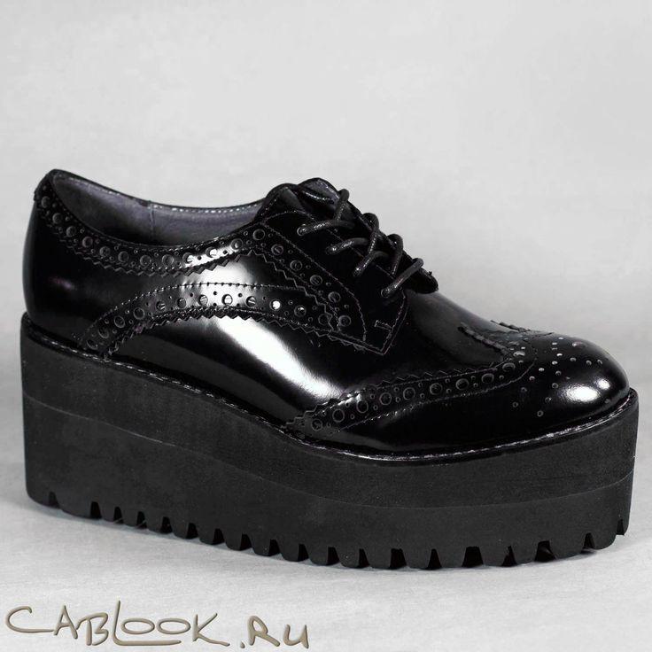 Jeffrey Campbell Pistol брогги на платформе женские купить в магазине дизайнерской обуви CabLOOK.ru