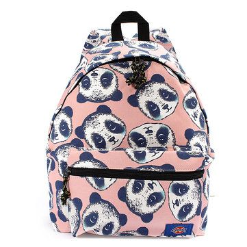 Women Panda Pattern Printing Canvas Backpack Online - NewChic Mobile