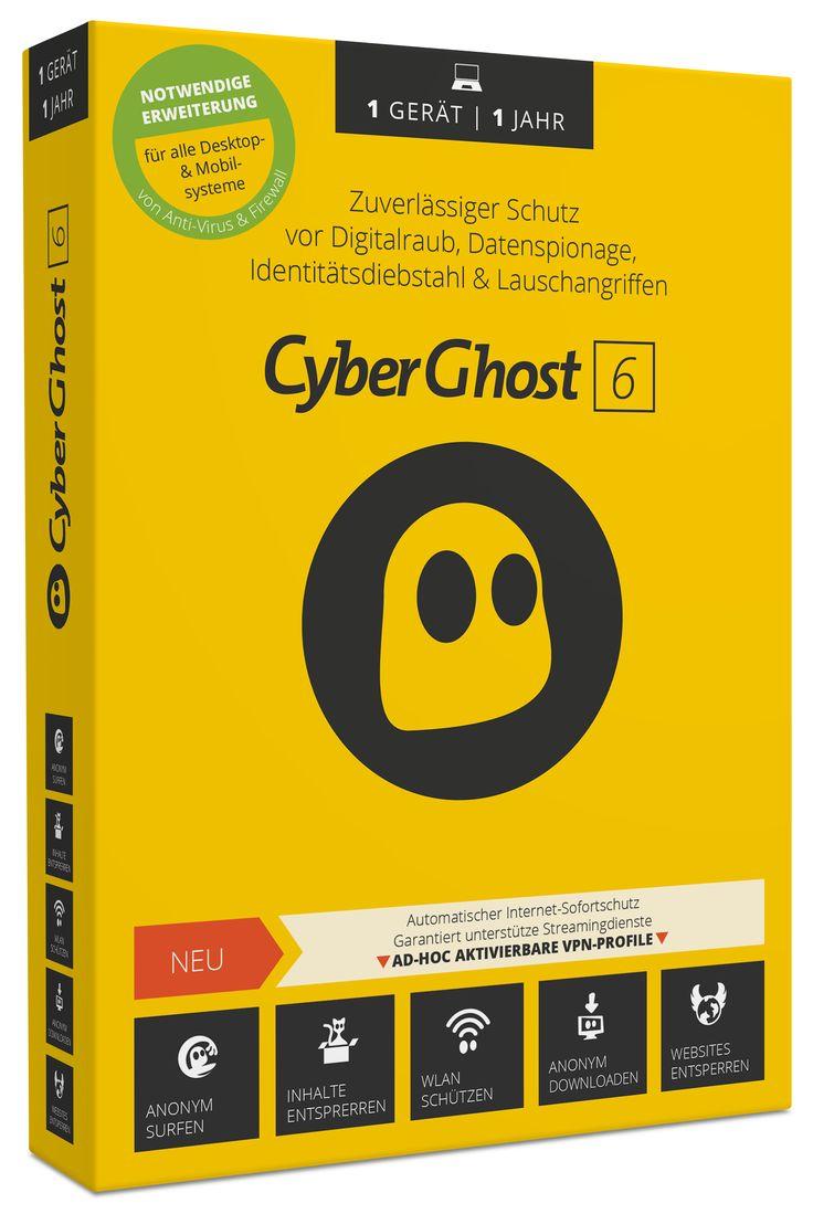CyberGhost VPN 6.0 ist der einfachste, schnellste und sicherste Anonymisierungs-Client für jedermann. Die Einrichtung eines CyberGhost-Accounts erfolgt vollautomatisch sowie komplett anonym und benötigt keinerlei persönliche Eingriffe. Zum Verbergen der eigenen IP-Adresse kann der Anwender jeden beliebigen CyberGhost-Server weltweit anwählen (beispielsweise um ein blockiertes Video aufzurufen) oder CyberGhost automatisch die Auswahl überlassen.