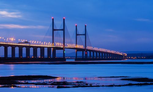Severn Bridge connecting Wales and England