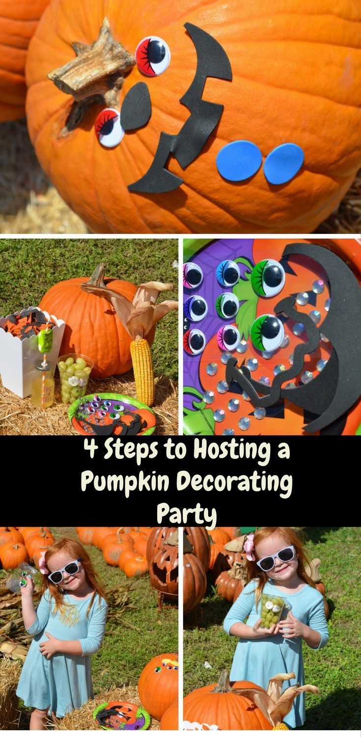 4 steps to hosting a pumpkin decorating party | party ideas