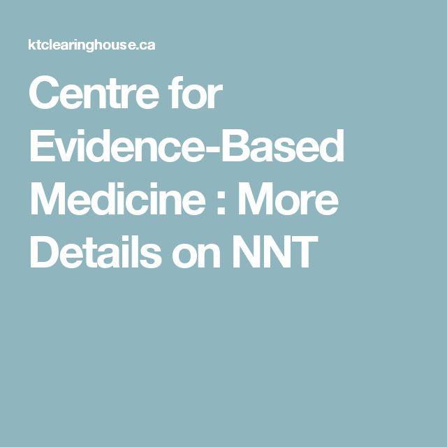 Centre for Evidence-Based Medicine : More Details on NNT