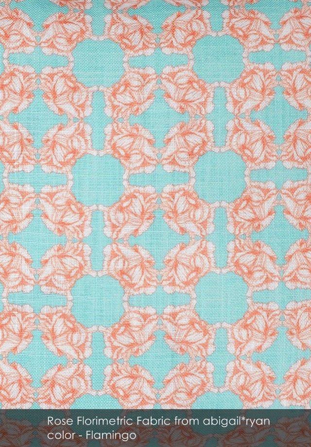 Rose Florimetric fabric from abigail*ryan in Flamingo