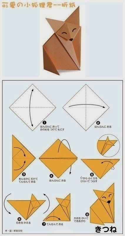 tuto origami renard