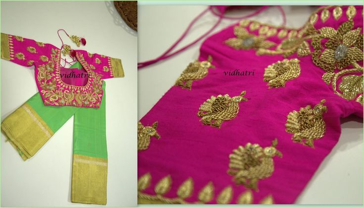 Beautiful kanchi pattu saree with pure Zari Border and contrast Pink Blouse!!The beauty of this saree is it has zari border with  Organza mix!!Code:- Vid-Oct-22/16For orders/Enquiries -Contact Details:040-65550855/9949047889Watsapp:8142029190 Vidhatri  designer  couture wedding  23 October 2016