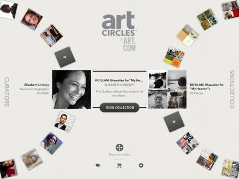 artCircles: (free) Discover classic and current artwork in a whole new way. Let your fingers wander as you whirl through various collection wheels centered around colors, words or featured curators—the artists, musicians, designers and innovators of our time— who share their unique perspective on creativity and the art and images that inspire them. Each spin reveals new works of art that just may change the way you see a particular painting or photograph, and what you encounter may surprise…