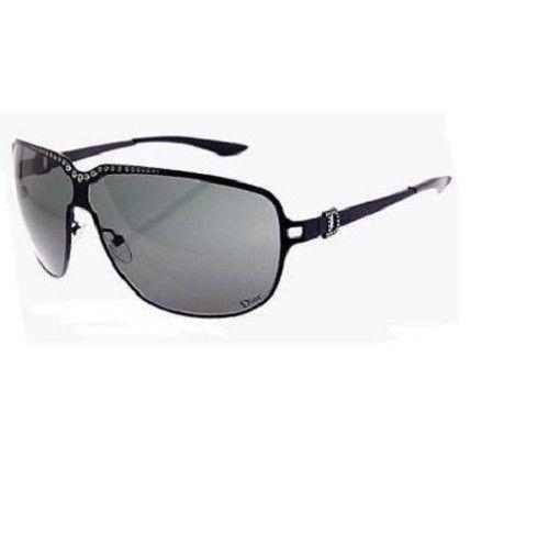 DIOR HYPNOTIC Ladies Womens Aviator New case Jewel Sunglasses Black swarofski  #DIOR