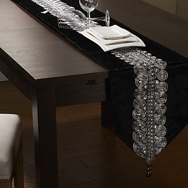 Black/Silver Table Runner <3