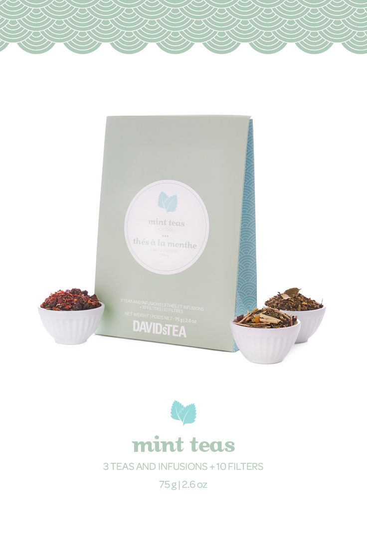 Freshen up with this collection of three delicious minty blends.