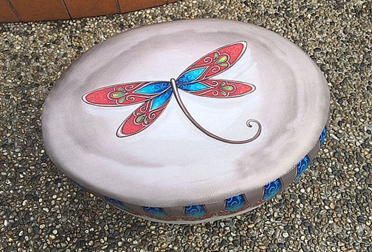 The Gecko Shack - Dancing Dragonfly Oval Ottoman Stool by Lisa Pollock FACTORY 2nd SALE, $45.00 (http://www.geckoshack.com.au/dancing-dragonfly-oval-ottoman-stool-by-lisa-pollock-factory-2nd-sale/)