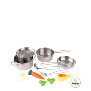 Our Kidkraft Metal Accessories Set Makes A Great Addition To Kids Play  Kitchens. The Kidkraft Metal Accessories Set Consists Of Metal Pans, Pot,  ...