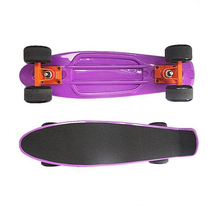 """Single Rocker Skate Board Kids Scooter Mini Cruiser Skateboard 4 Wheels 22"""" - Scooters"""