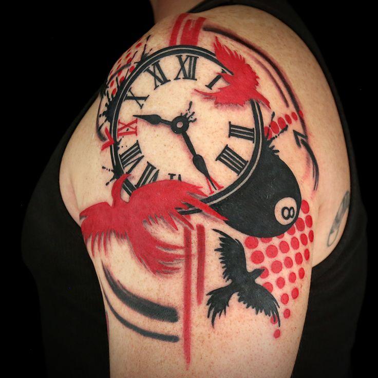 славяне тату часы и птицы фото то, что
