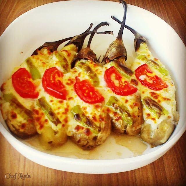 Köz Patlıcanlı Peynir Kayığı