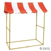 make our own out of pvc & pink & white stripe fabric
