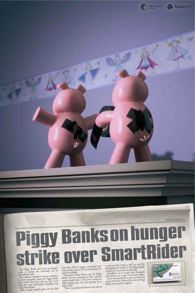 Advertising in the financial world - Transperth Hunger Strike