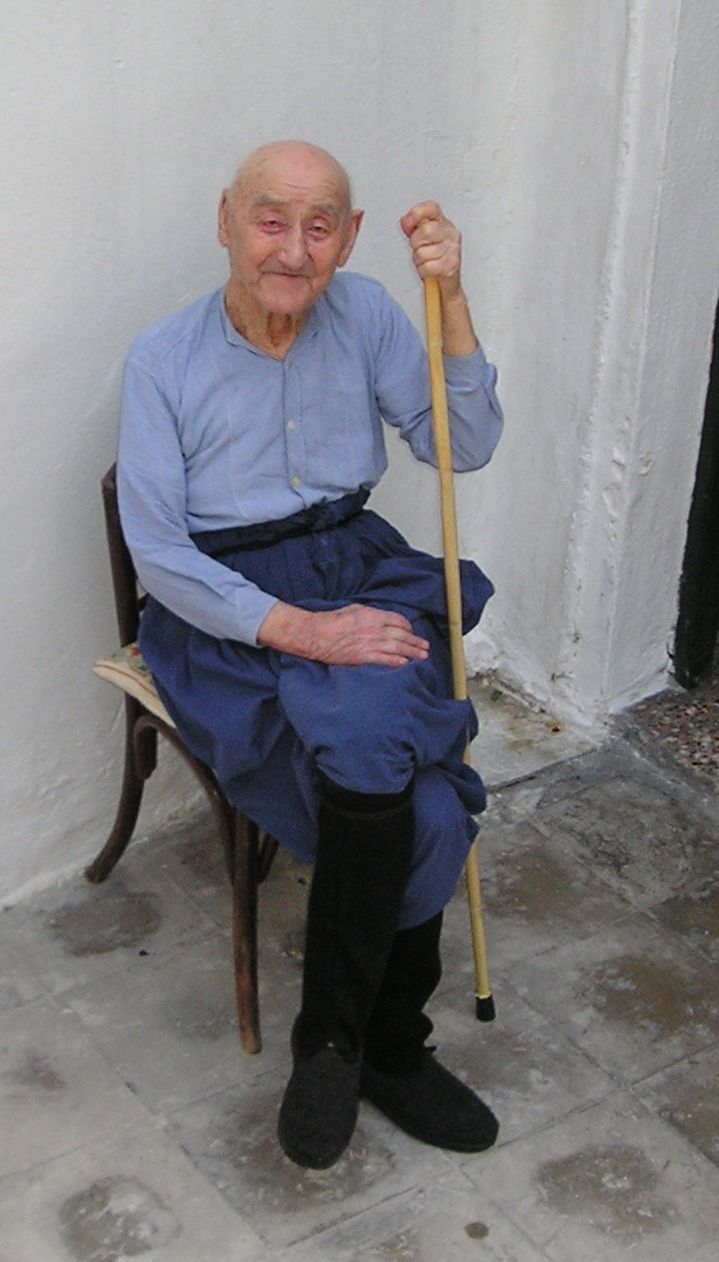 SKYROS  This man was over 90 years old.