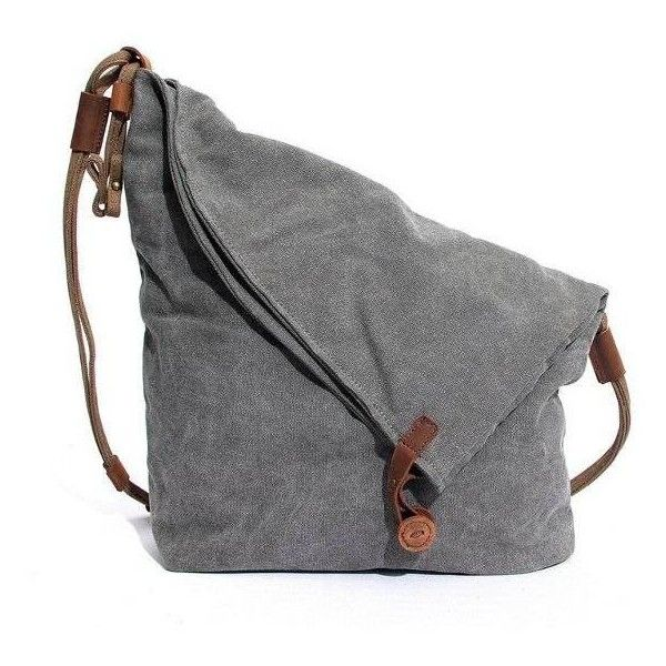Casual Canvas Gray Cotton Unisex Crossbody Bag (€23) ❤ liked on Polyvore featuring bags, handbags, shoulder bags, grey handbags, accessories handbags, crossbody purse, crossbody handbags and canvas handbags