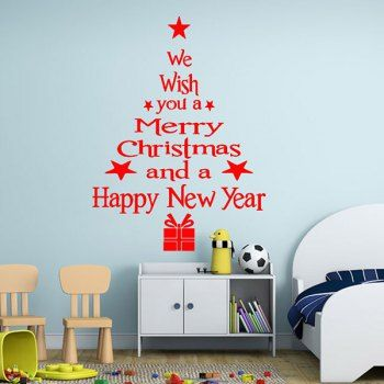 share u0026 get it free wishes tree christmas removable glass window wall stickersfor fashion lovers