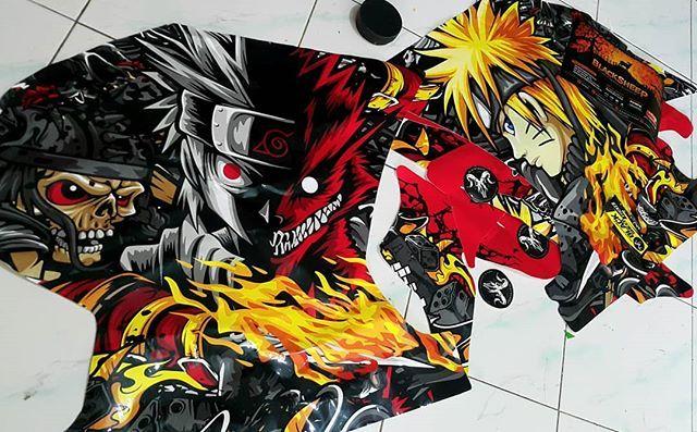 Decal kit kawasaki ninja  NARUTO    #kawasaki #kawasakininja #ninja250 #decal #decalsticker #naruto #blacksheepstickart #banyuwangi & follow Instagram kami  @ckdsign