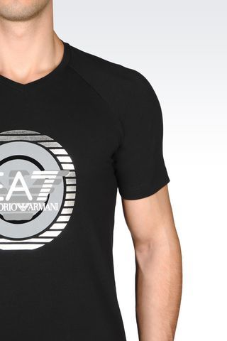 JERSEY T-SHIRT: Short sleeved t-shirts Men by Armani - 4