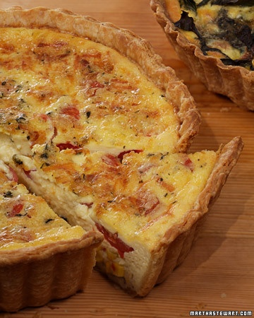 Corn and Tomato Quiche  http://www.marthastewart.com/349885/corn-and-tomato-quiche?backto=true&backtourl=/photogallery/quiche-recipes#slide_2