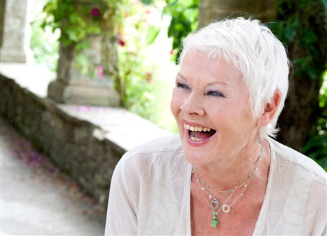 Judi Dench, of course.  Delicate top, delicate jewelry, just the right makeup and, most important, radiant smile that comes from within.