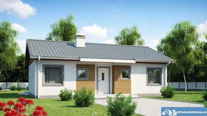 proiecte de case mici pe un singur nivel Small single level house plans 2