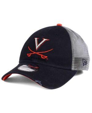 New Era Virginia Cavaliers Team Rustic 9TWENTY Cap - Blue Adjustable
