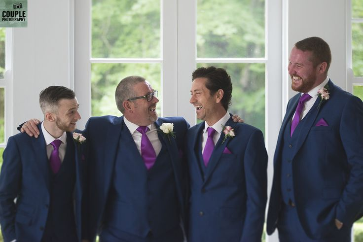 The groom hangs out with his groomsmen.   Weddings by Couple Photography. www.couple.ie