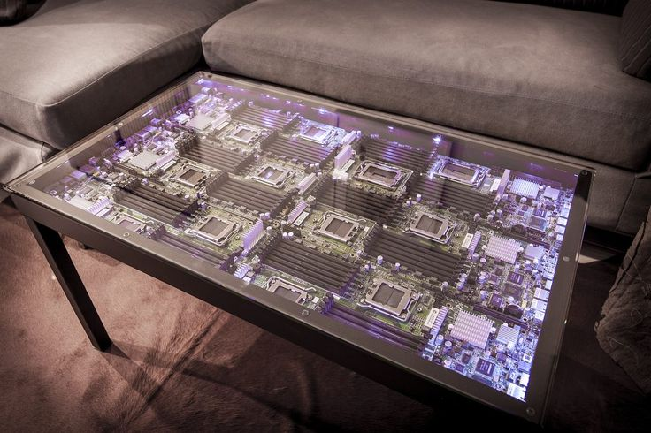 Motherboard coffee table
