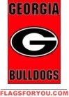 "Georgia Bulldogs Applique Banner Flag 44"" x 28"""