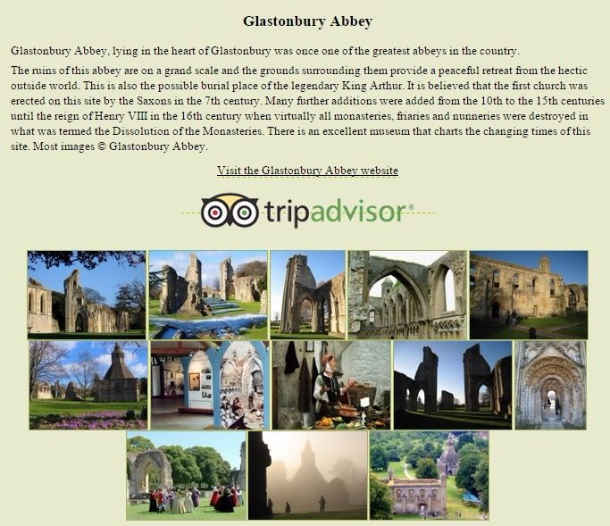 Glastonbury Abbey ruins and King Arthur's grave - Wells, Somerset