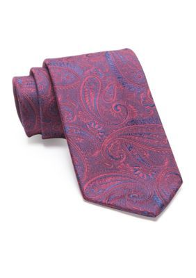 Geoffrey Beene Men's Crystal Paisley Tie - Burgundy - One Size