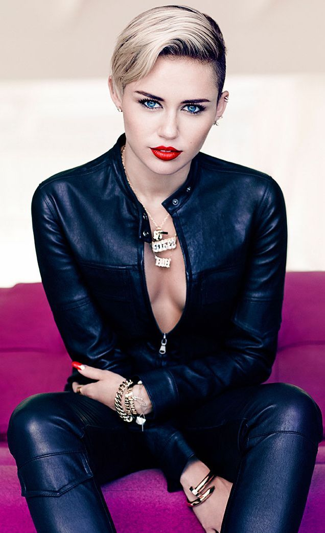 Miley looking fabulously chic! November 2013 Issue by #FashionGoneRogue #mileycyrus