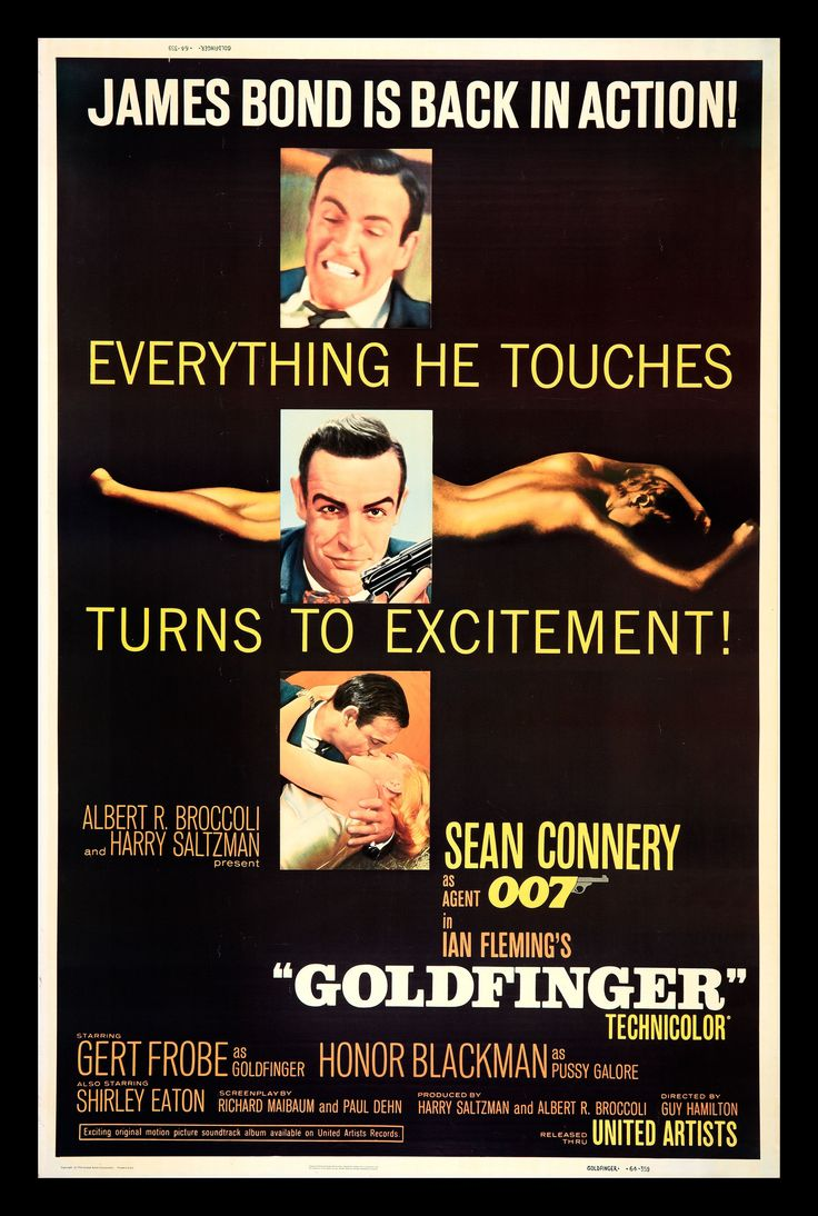 "Goldfinger: ""Everything he touches turns to excitement!"" Epic. #Bond50"