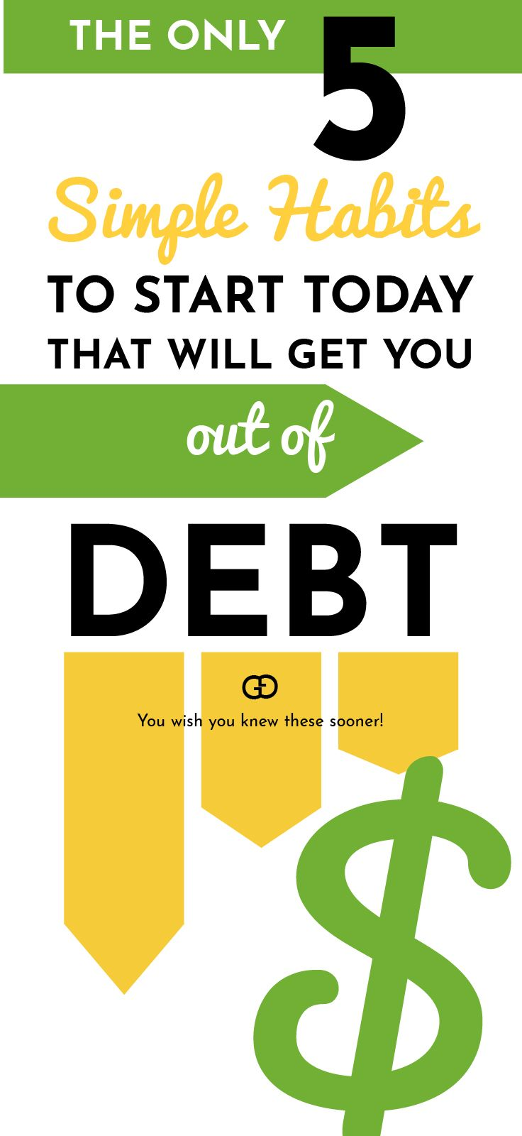 Follow these 5 simple steps to stay out of financial trouble, take control of your finances, and make sure your financial future is in your hands! Click on this pin to learn how to stay debt free forever!