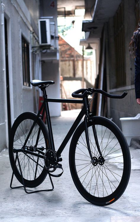 Super black fix #bike #black #fixed
