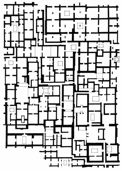 PLAN OF THE PALACE OF TLAMINMILOLPA, TEOTIHUACAN, MEXICO