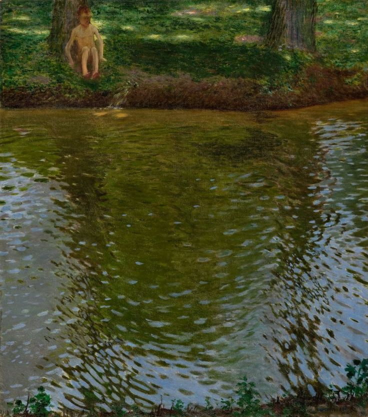 fleurdulys:  By the Pond - Antonin Hudecek