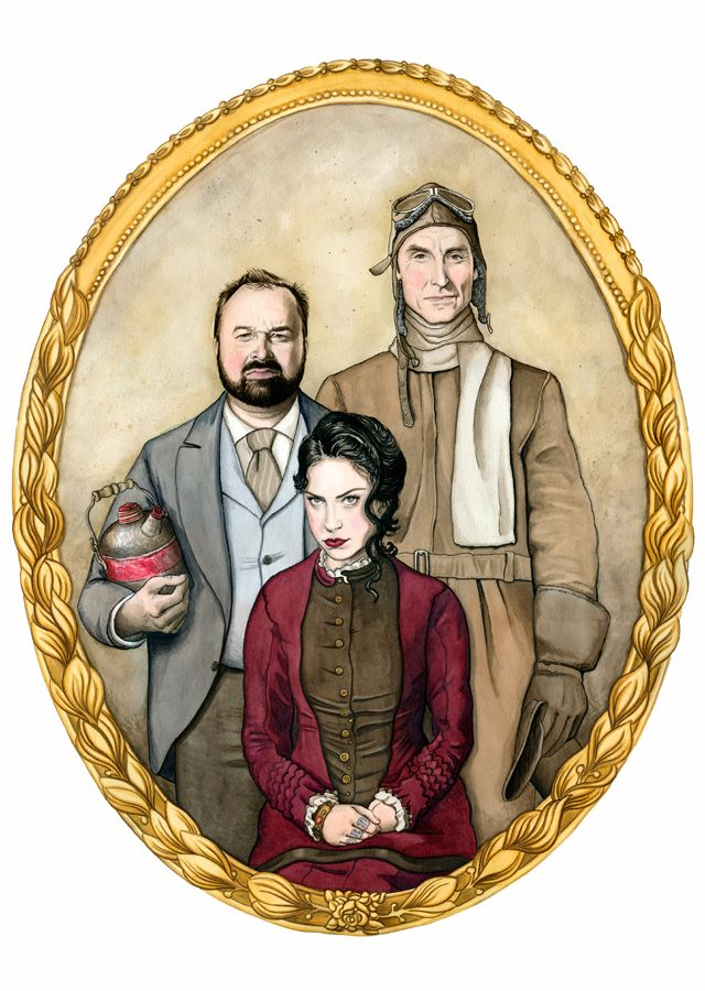 Michele Melcher Illustration of the American Pickers