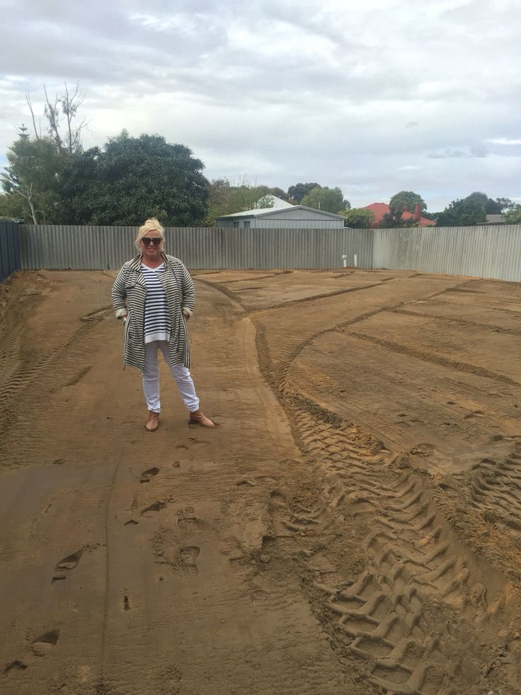 One day later, the block is cleared! Mumma checks out the land :)