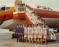 PSA Pacific Southwest Airlines Flight Attendant / Stewardess graduation photos