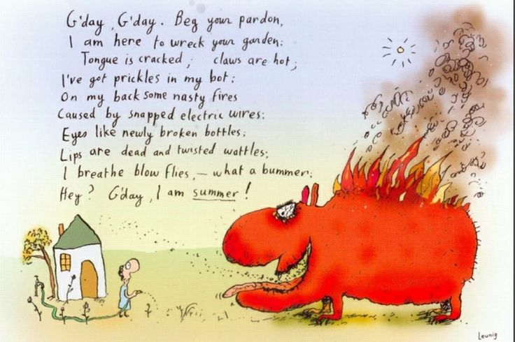 Ugh, Leunig has this so right, as per. Summer always has been my least-favourite season & thanks to global warming, climate change, or whatever term you choose to use, 2015-16 feels like it will be a scorcher in BrisVegas :(