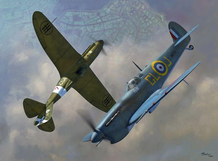 Spitfire Mk.V-C vs Reggiane. 2001, combattimento su Malta,1941